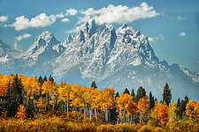 Grand Tetons in Fall by Matt Anderson (Color Photograph)