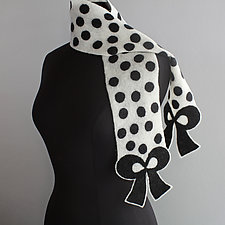 Dalmatian Scarf by Mila Sherrer  (Felted Wool Scarf)