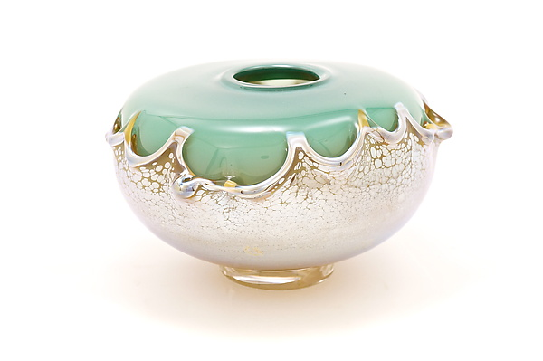 Turquoise Overlay Seed Bowl