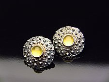 Turtle Grass by Hratch Babikian (Silver & Stone Earrings)