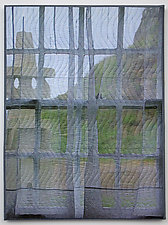 Cape Cornwall Window by Marilyn Henrion (Fiber Wall Art)