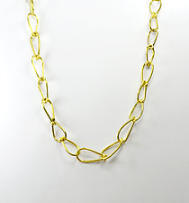 Horseshoe Link Chain by Dennis Higgins (Gold & Silver Necklace)