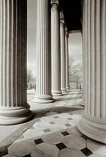 US Treasury Building #1 by Mel Curtis (Black & White Photograph)