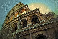 Roma #74v3 The Colosseum 2010 by Mel Curtis (Color Photograph)