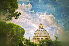 roma #75v3 St Peter's Basilica 2010 by Mel Curtis (Color Photograph)