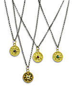 Gold Granulated Disk by Nancy Troske (Gold & Stone Necklace)