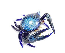 Exotic Crab Sculpture by Jeremy Sinkus (Art Glass Sculpture)