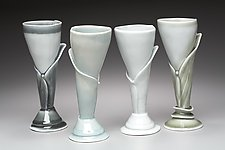 Calla Wine Stems by Marion Angelica (Ceramic Wine Glass)