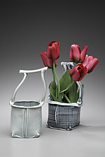 Basket Vase by Marion Angelica (Ceramic Vase)