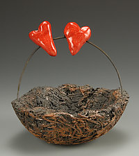 Love Nest by Cathy Broski (Ceramic Sculpture)