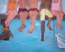 Who'll Jump First? by Elisa Root (Oil Painting)