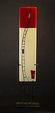 Windows Opens III by Vicky Kokolski and Meg Branzetti (Art Glass Sculpture)
