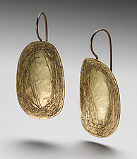 Scribble Earrings by Peg Fetter (Gold & Silver Earrings)