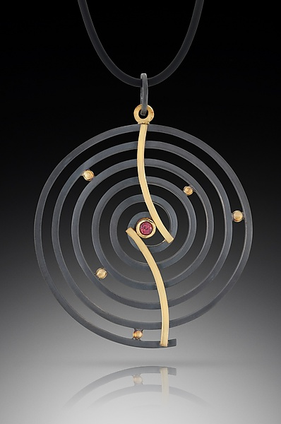 Curved Spiral Pendant