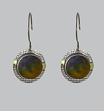 Warm-Toned Vista Earrings by Carol Martin (Gold, Silver, & Art Glass Earrings)