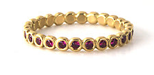 Ruby Bubble Band by Jessica Fields (Gold & Stone Ring)