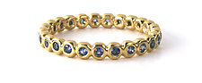 Blue Sapphire Bubble Band by Jessica Fields (Gold & Stone Ring)