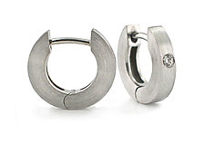 Everyday Hoops in Platinum or Palladium by Catherine Iskiw (Platinum or Palladium Earrings)