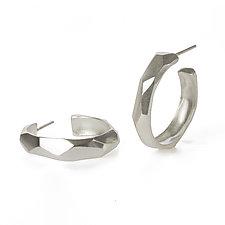 Faceted Hoops by Kendra Renee (Silver Earrings)