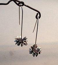 Twirling Flower Earrings by Rone' Prinz (Silver Earrings)