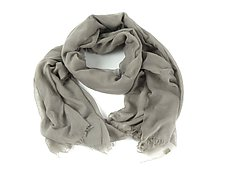 Organic Cotton Light Weight Shawl in Sand Gray by Yuh  Okano (Cotton Scarf)