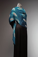 Ocean Moon Pleated Shawl by Laura Hunter  (Silk Scarf)