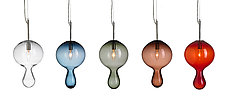 Globule Pendants by Moshe Bursuker (Art Glass Pendant Lamp)