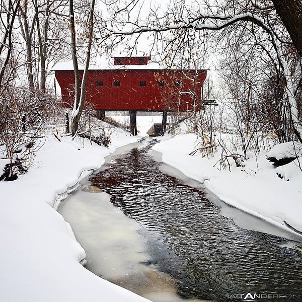 Snow Covered Wood Bridge #1