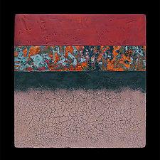 Canyon Walls 12x12 OBC by Kara Young (Mixed-Media Wall Art)