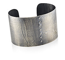 Cuff in Sterling Silver with Diamonds by Ayesha Mayadas (Silver Braclet)