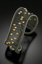 Oxidized Wave Cuff by Tana Acton (Silver Bracelet)