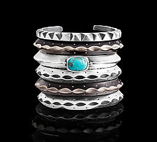 Southwest Cuffs by Ashley Vick (Silver, Stone & Bronze Braclet)