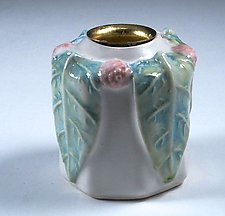Charming Porcelain Vase and Candleholder by Carol Barclay (Ceramic Vase)