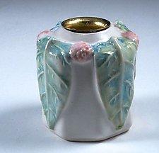 Charming Porcelain Vase and Candleholder by Carol Barclay (Ceramic Vase)