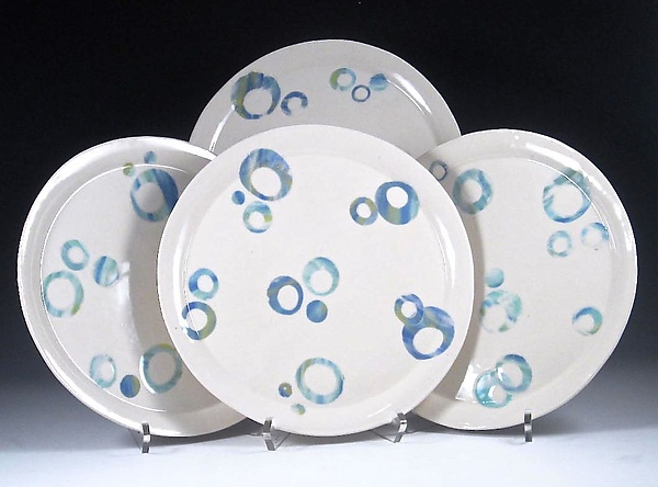 Four Celebration Porcelain Plates