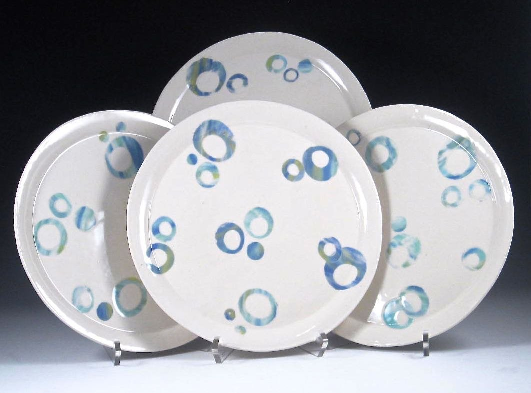 Four Celebration Porcelain Plates By Carol Barclay