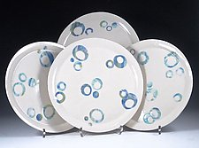Four Celebration Porcelain Plates by Carol Barclay (Ceramic Plate)