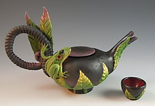 Frog Tea with Cup by Nancy Y. Adams (Ceramic Tea Set)