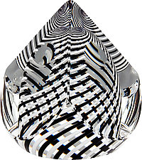 Black and White Pyramid by Paul D. Harrie (Art Glass Paperweight)