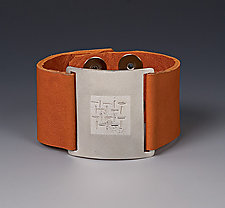 Thai Wrist Wrap by Karen Klinefelter (Silver & Leather Bracelet)