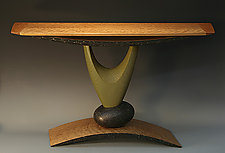 Elemental Hall Table by Derek Secor Davis (Wood Console Table)