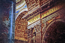 Roma, St Peter's Basilica #138v6 by Mel Curtis (Color Photograph)