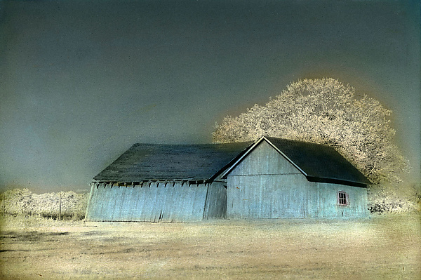 Two Blue Barns