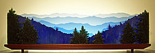The Great Smoky Mountains by Bernie Huebner and Lucie Boucher (Art Glass Sculpture)