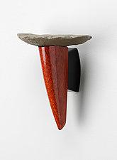 Ithaca / Danby Shelf in Bloodwood by Peter Dublanica (Wood & Stone Shelf)