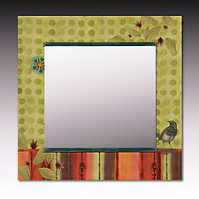 Lymon Bird Square Mirror by Janna Ugone and Justin Thomas (Mixed-Media Mirror)