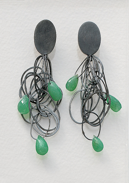 Tangle Earrings with Chrysophrase