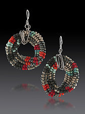 Anasazi Earrings by Julie Powell (Beaded Earrings)