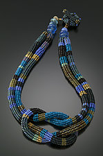 Square Knot Necklace-Wisteria by Julie Powell (Beaded Necklace)