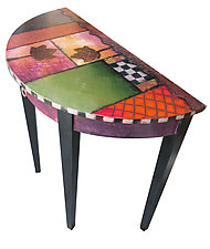 Small Crescent Table by Wendy Grossman (Wood Console Table)